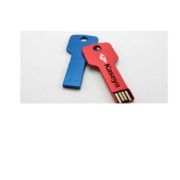 key usb flash drive blue and red with logo