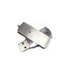 metal swivel usb flash drive silver open